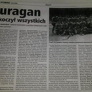 """Amatorzy – """"Huragan zaskoczył wszystkich"""" – ŻB 2004"""